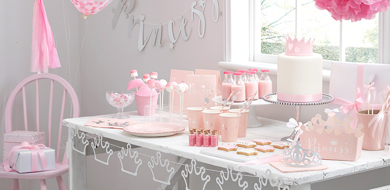 Prinses perfectie feestartikelen for Baby shower party deko