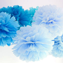 Blauwe Decoraties