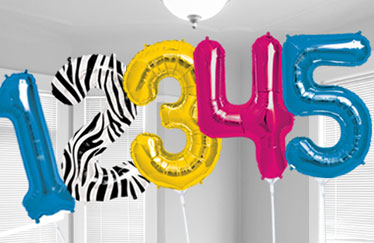 large letter number balloons party city With small letter balloons party city