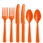 Oranje Plastic Bestek - Assortiment Party Pak