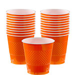 Oranje Bekers - 355ml Plastic Feestbekers